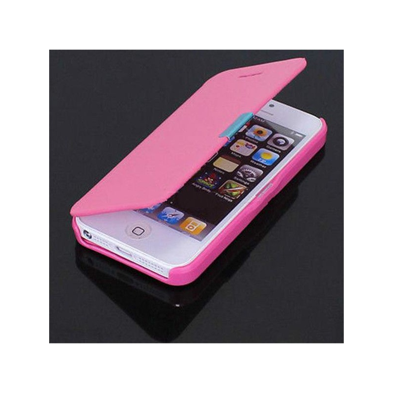 coque flipcase iphone 5 et iphone 5s rose. Black Bedroom Furniture Sets. Home Design Ideas