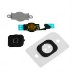 Bouton Home iPhone 5 noir : nappe + spencer + plaque