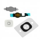 Bouton Home iPhone 5 blanc : nappe + spencer + plaque