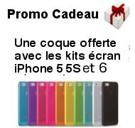Coque offerte pour l'achat d'un écran iPhone 5 iPhone 5S et iPhone 6