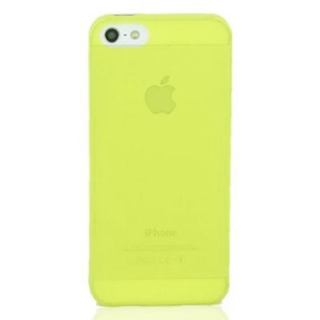 Coque iPhone 5S Crystal jaune