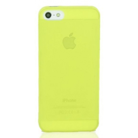 Coque iPhone 5S Crystal jaune